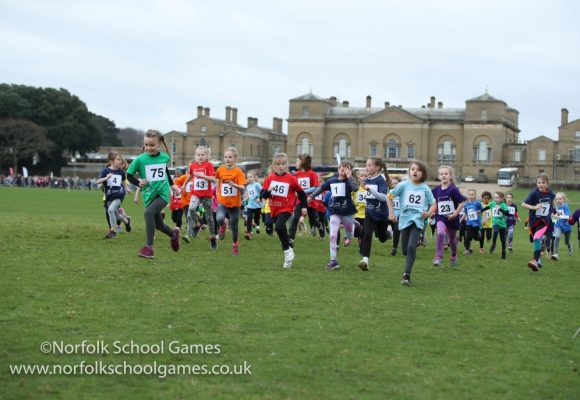 640 runners, from 158 schools, take over Holkham Hall for the Norfolk School Games Cross Country County Finals 2019